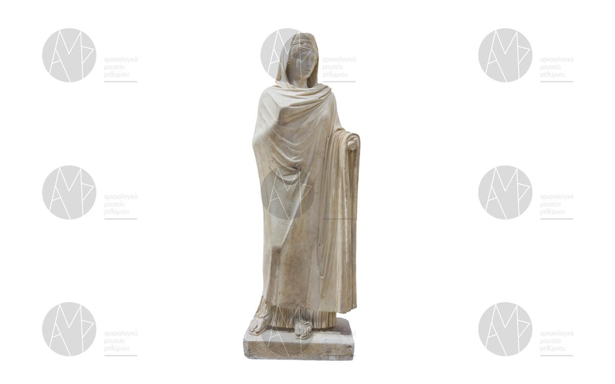 Μαρμάρινο άγαλμα που εικονίζει πιθανά την Φαυστίνα την Πρεσβύτερη, Λάππα, μέσα 2ου αι. μ.Χ