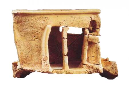 Πήλινο ομοίωμα κτηρίου/ναού, Μοναστηράκι περ. 1900-1700 π.Χ.