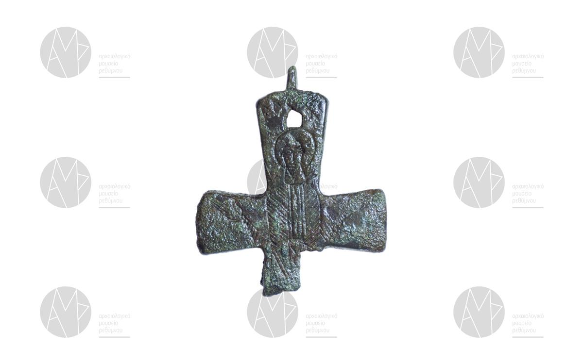 Σταυρός – λειψανοθήκη με εγχάρακτη μορφή αγίου, ναός Αγίου Γεωργίου, Ποταμοί Αμαρίου 10ος-11ος αι. μ.Χ.