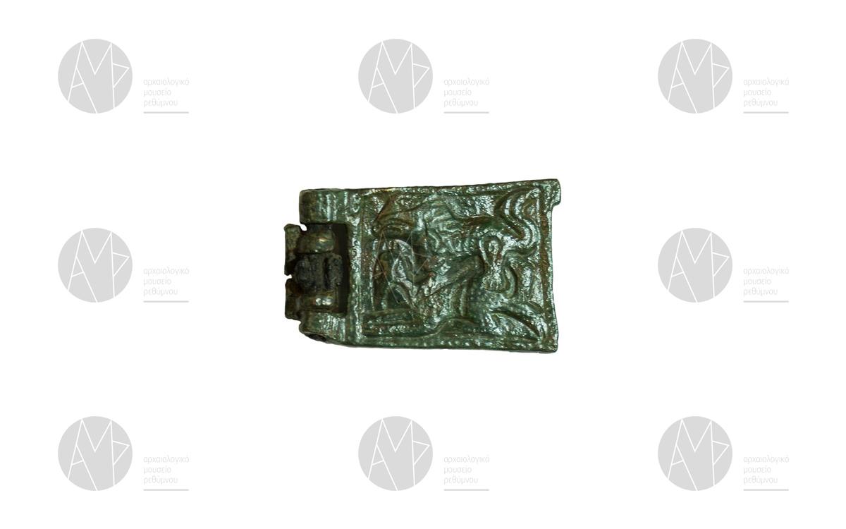 Πόρπη με σκηνή κυνηγιού, Αξός, 9ος -10ος αι. μ.Χ.