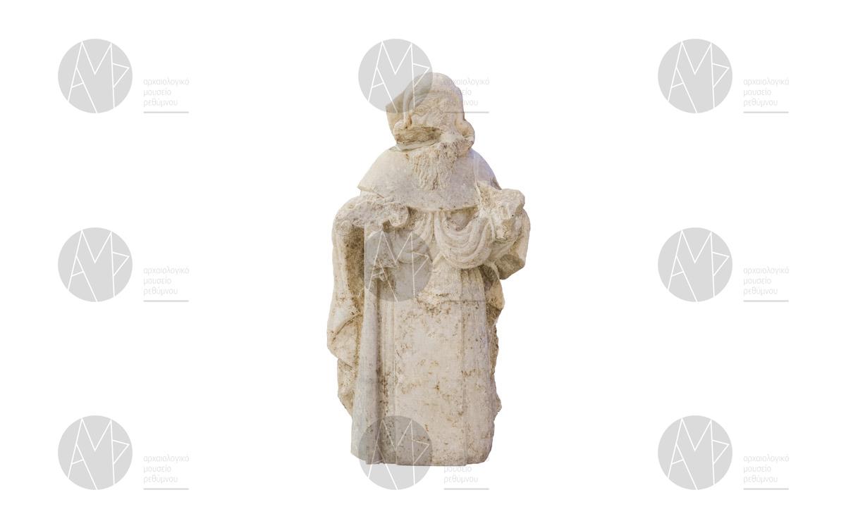 Μαρμάρινο άγαλμα του Αγίου Αντωνίου, Μονή των Αυγουστινιανών, Ρέθυμνο, 14ος – 15ος αι. μ.Χ.