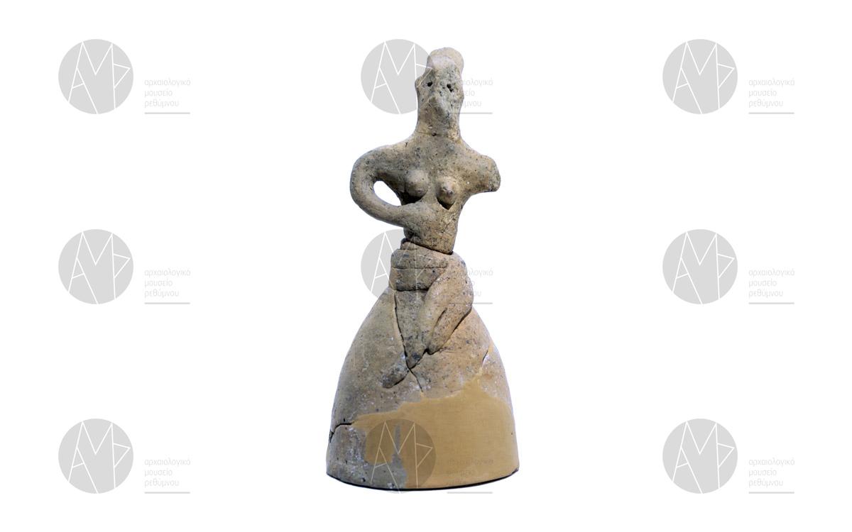 Πήλινο ειδώλια γυναικείας μορφής, Βρύσινας, περ. 1700-1500 π.Χ.