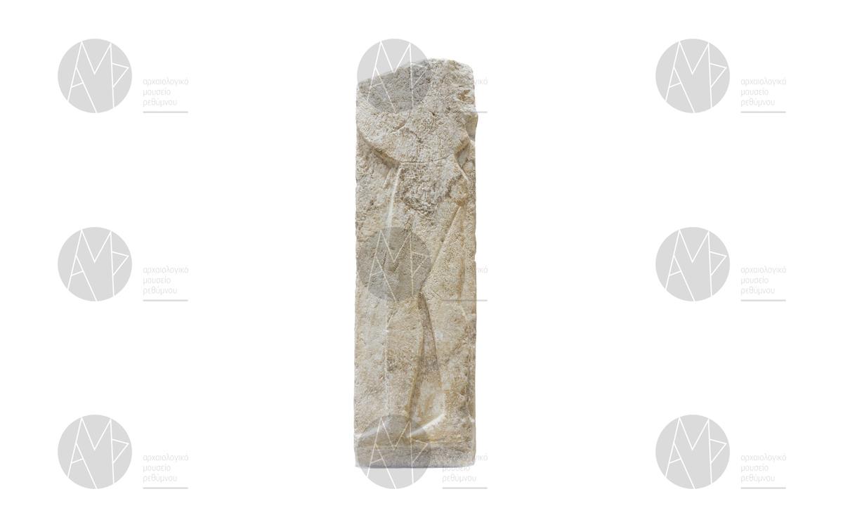 Αρχαϊκή επιτύμβια στήλη πολεμιστή, Ελεύθερνα, 6ος αι. π.Χ.